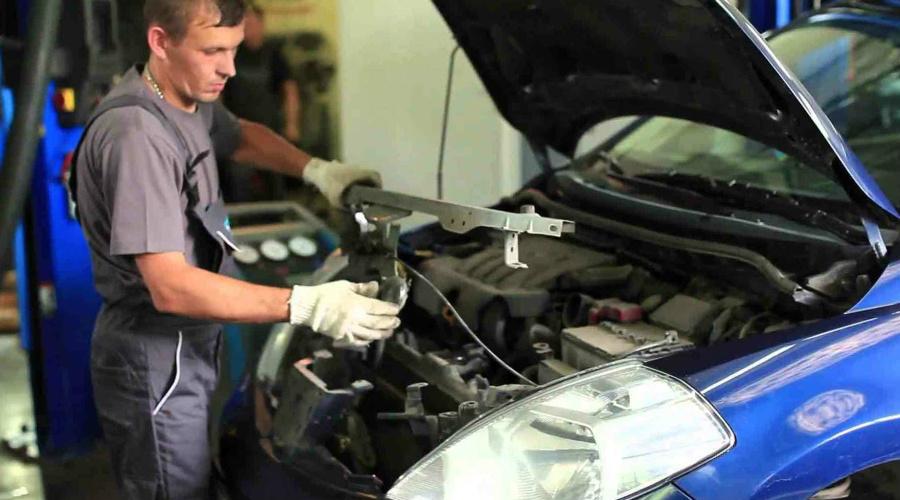 Ремонт системы охлаждения в авто
