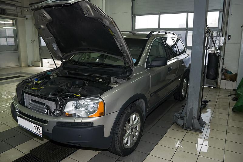 Проведение ремонта автомобиля вольво